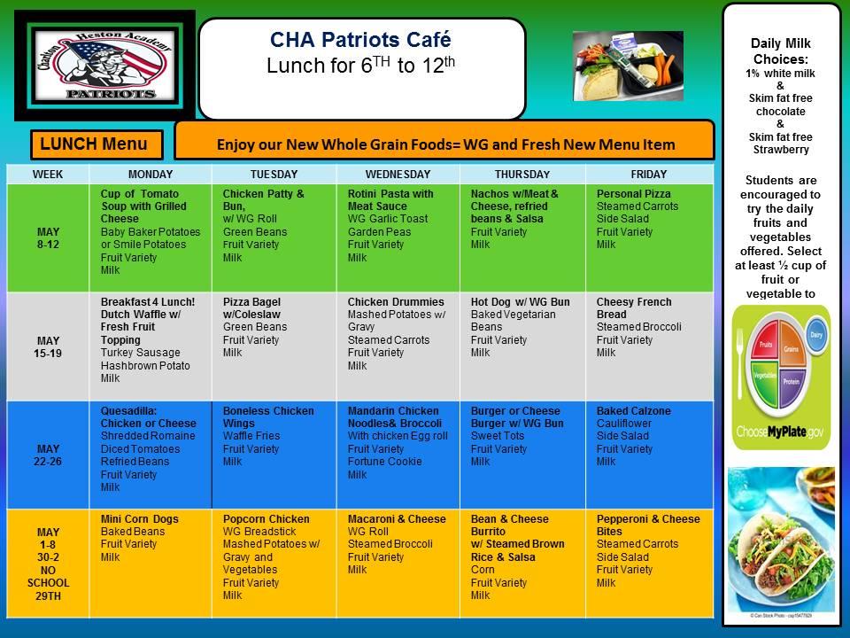 CHA menu 2016 fall HS NEW