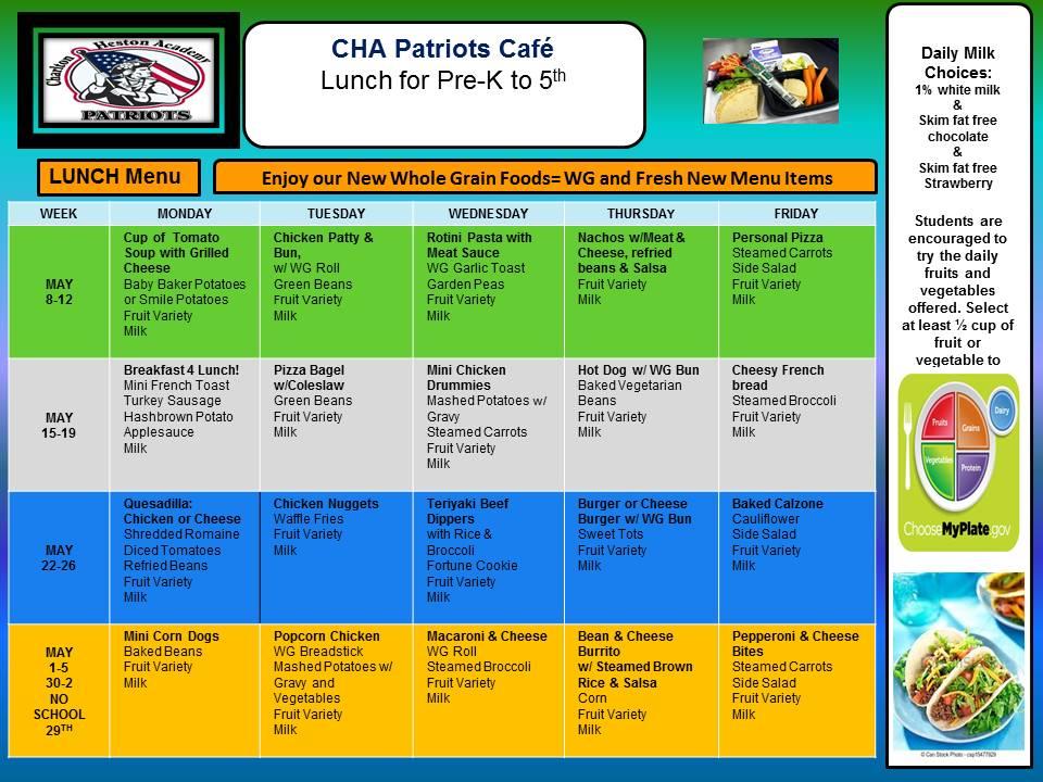 CHA menu 2016 fall K5 NEW APRIL